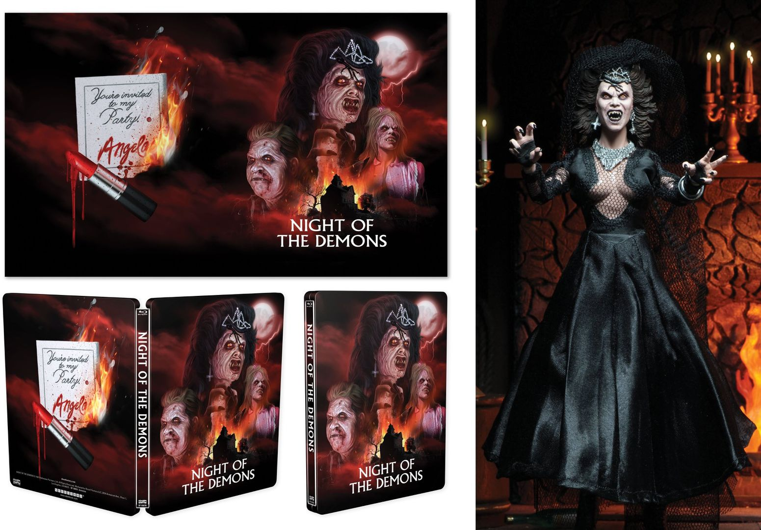 Amelia Kinkade Night Of The Demons scream factory & neca deluxe 'night of the demons' steelbook