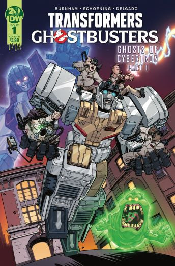 IDW Publishing's Transformers/Ghostbusters issue #1 cover B by Nick Roche