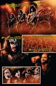 Dynamite Entertainment's KISS: The End issue #3 preview page 1