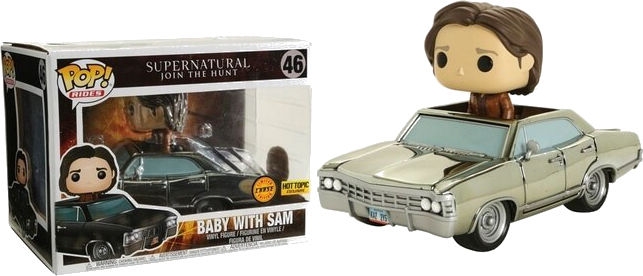 Funko Pop! Rides #46 Supernatural Baby With Sam [Chrome]
