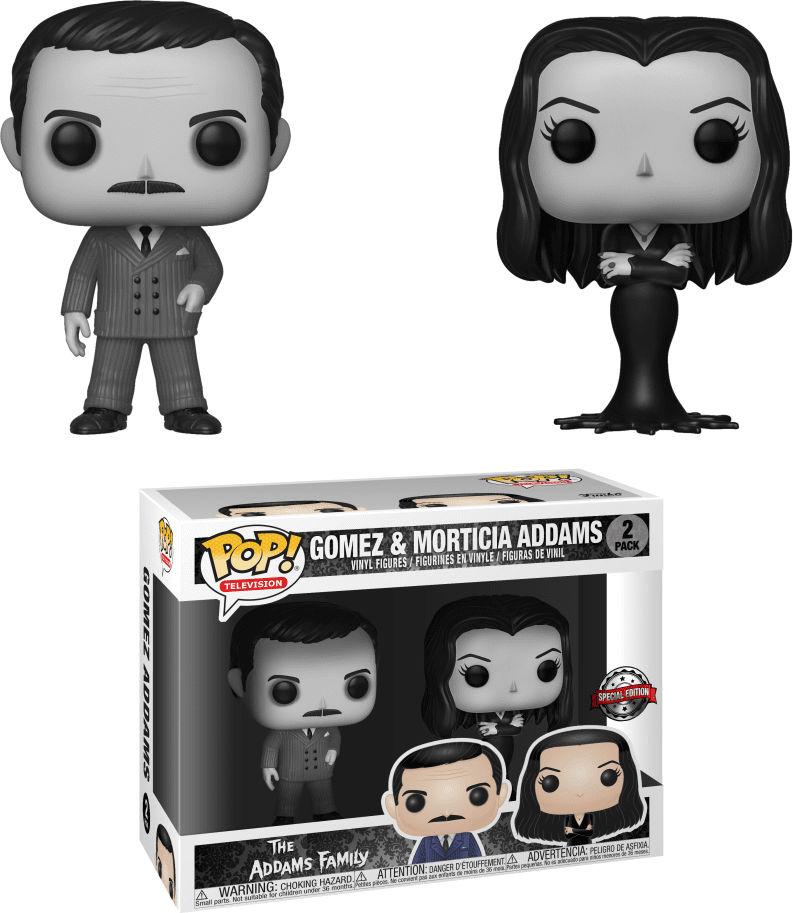 Funko Pop! Television The Addam's Family Gomez & Morticia Addams 2-Pack [Black & White]