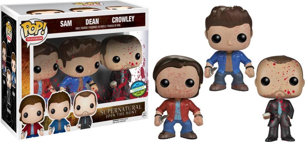 Funko Pop! Television Supernatural Sam, Dean, Crowley [Bloody] 3-Pack