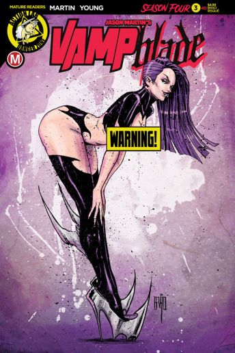 Action Lab Danger Zone's Vampblade Season 4 Issue #3 Cover F (Risque) by Brao