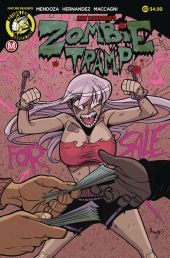 Action Lab Danger Zone's Zombie Tramp issue #61 cover A by