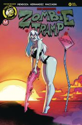 Action Lab Danger Zone's Zombie Tramp issue #61 cover C by Jason Federhenn.