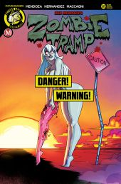Action Lab Danger Zone's Zombie Tramp issue #61 risque cover D by Jason Federhenn.