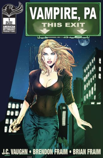 American Mythology Production Vampire, PA: Bite Out of Crime issue #1 cover B by Asha Kishna.