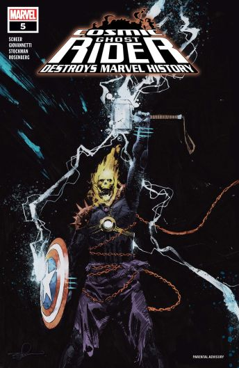 Marvel's Cosmic Ghost Rider Destroys Marvel History issue #5 cover A by Gerardo Zaffino.