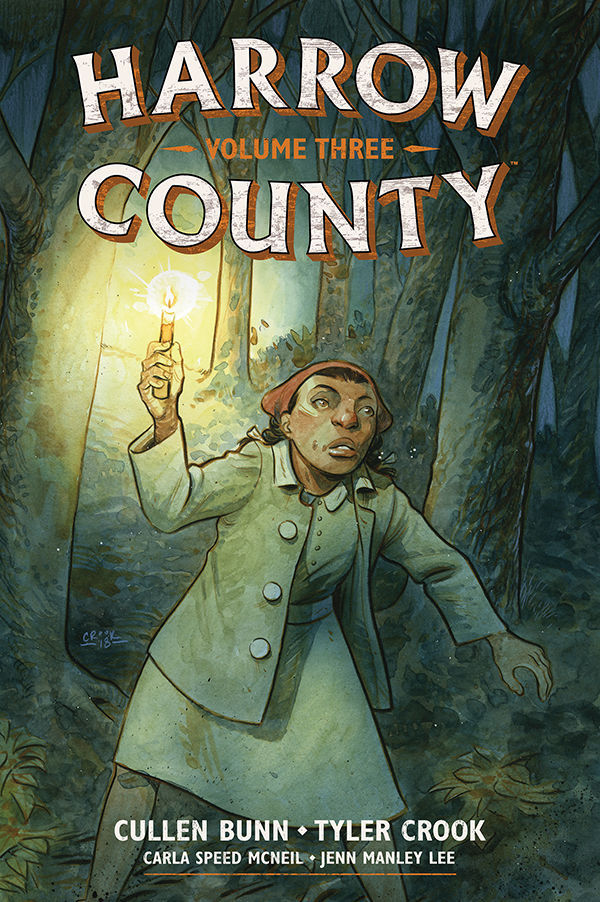 Dark Horse Comics' Harrow County library edition vol. 3 hardcover cover art by Tyler Crook.