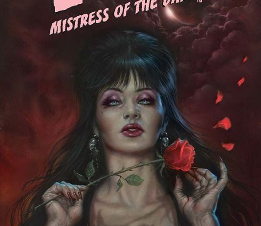Dynamite Entertainment's Elvira: Mistress of the Dark issue #7 cover A by Lucio Parillo.