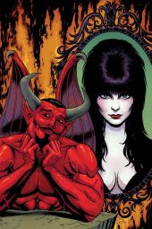 Dynamite Entertainment's Elvira: Mistress of the Dark issue #7 cover B (virgin) by Craig Cermak.
