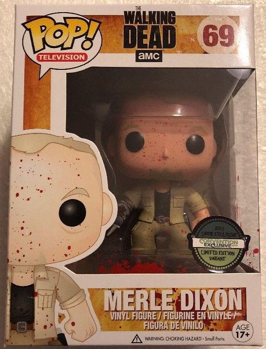 Funko Pop! Television #69 The Walking Dead Merle Dixon [Bloody]