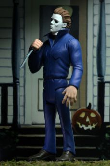 NECA Toys' Toony Terrors series 2 action figure Michael Myers (angled left) with cutout backdrop.