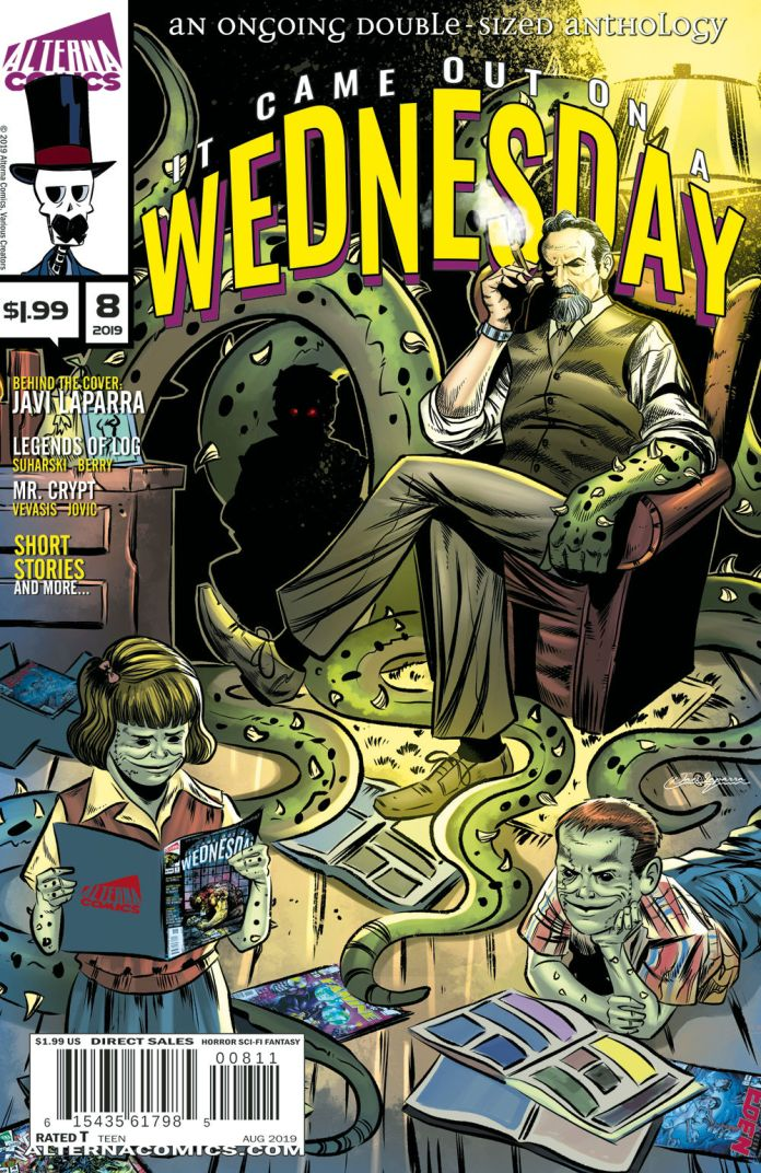Alterna Comics It Came Out On a Wednesday Issue #8 Cover by Javi Laparra