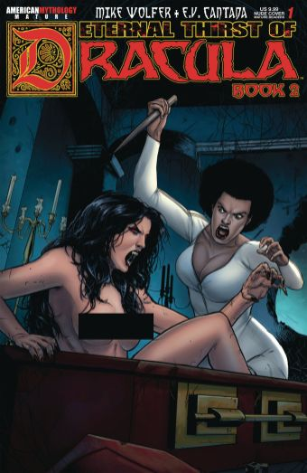 American Mythology Productions' Eternal Thirst of Dracula Book 2 Issue #1 Brides Nude Cover by