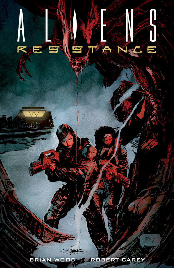 Dark Horse Comics' Aliens: Resistance Trade Paperback Cover by Robert De La Torre