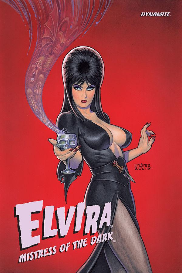 Dynamite Entertainment's Elvira: Mistress of the Dark Vol. 1 Cover by Joseph Michael Linsner