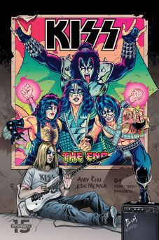 Dynamite Entertainment's KISS: The End Issue #4 Cover C by Brent Schoonover