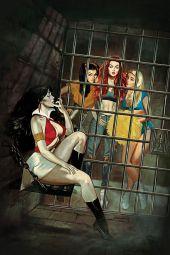 Dynamite Entertainment's Red Sonja & Vampirella Meet Betty & Veronica Issue #3 Cover A (Virgin) by Fay Dalton
