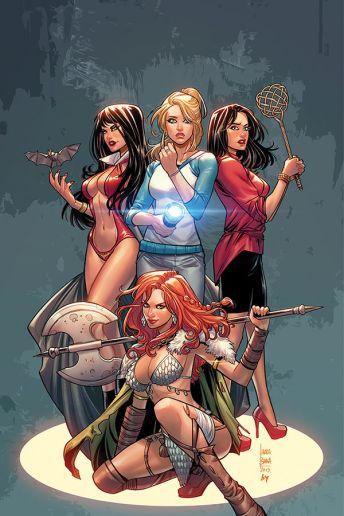 Dynamite Entertainment's Red Sonja & Vampirella Meet Betty & Veronica Issue #3 Cover C (Virgin) by Laura Braga
