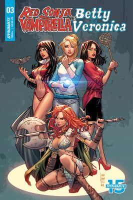 Dynamite Entertainment's Red Sonja & Vampirella Meet Betty & Veronica Issue #3 Cover C by Laura Braga