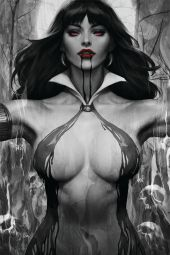 "Dynamite Entertainment's Vampirella Vol. 5 Issue #2 Cover A (Black & White) by Stanley ""Artgerm"" Lau"
