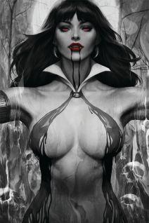 "Dynamite Entertainment's Vampirella Vol. 5 Issue #2 Cover A (Black & White) by Stanley ""Artgerm"" Lau"