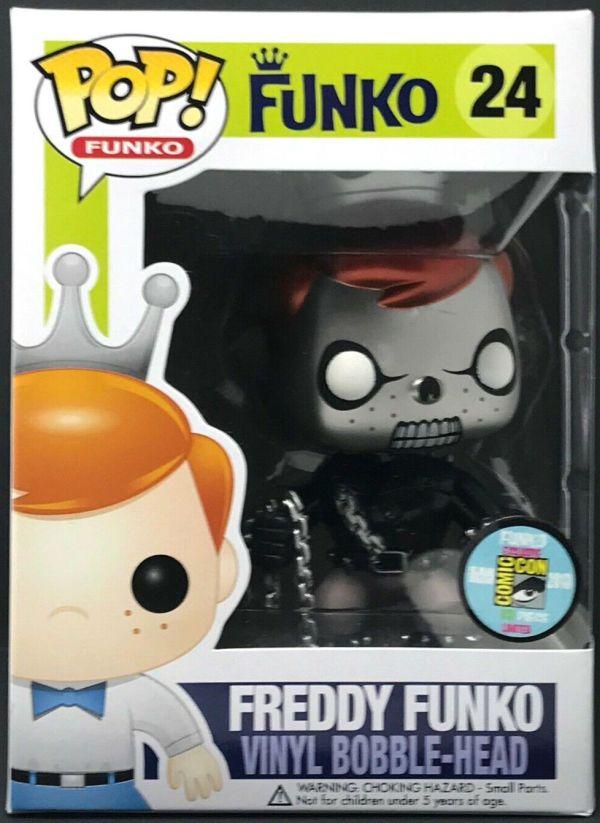 Funko Pop! #24 Freddy Funko as Ghost Rider [Metallic]