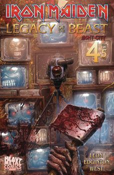 Heavy Metal Comics Iron Maiden Legacy of the Beast Vol 2 Night City Issue #4 Cover A