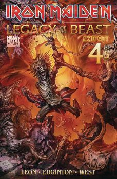 Heavy Metal Comics Iron Maiden Legacy of the Beast Vol 2 Night City Issue #4 Cover B