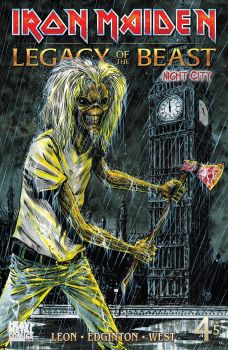 Heavy Metal Comics Iron Maiden Legacy of the Beast Vol 2 Night City Issue #4 Cover C