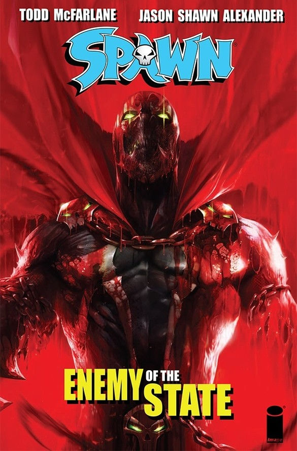 Image Comics' Spawn: Enemy State Trade Paperback Cover by Francesco Mattina