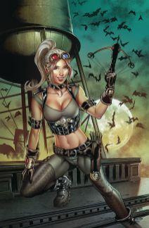 Zenescope Entertainment's Van Helsing Vs Dracula's Daughter Issue #1 Cover C (Virgin) by Allan Otero