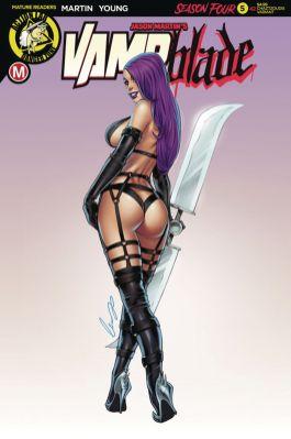 Action Lab Danger Zone Vampblade Season 4 #5 Cover C by Elias Chatzoudis