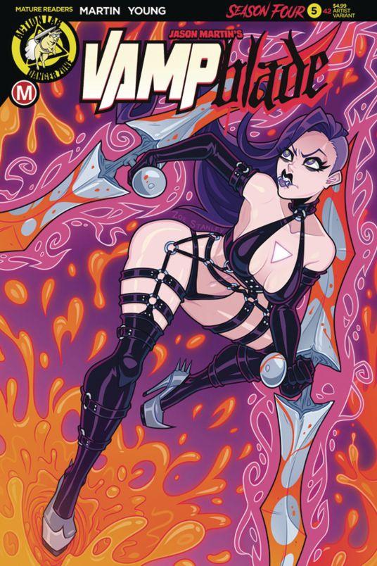 Action Lab Danger Zone Vampblade Season 4 #5 Cover E by Zoe Stanley