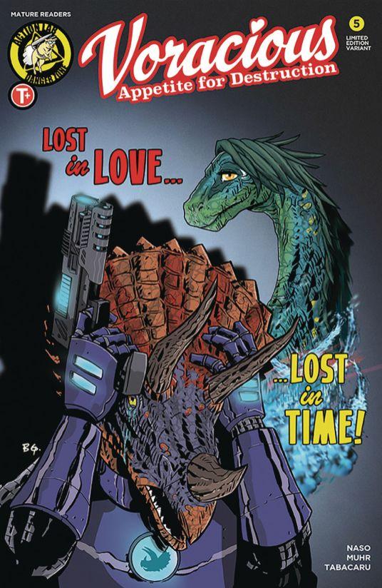 Action Lab Danger Zone Voracious Appetite for Destruction #5 Cover B by Bernie Gonzalez
