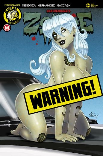 Action Lab Danger Zone Zombie Tramp Issue #94 Cover F (Risque) David Harrigan