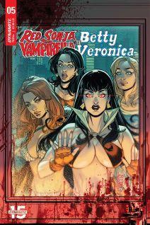 Dynamite Entertainment Red Sonja & Vampirella Meet Betty & Veronica #5 Cover C by Laura Braga