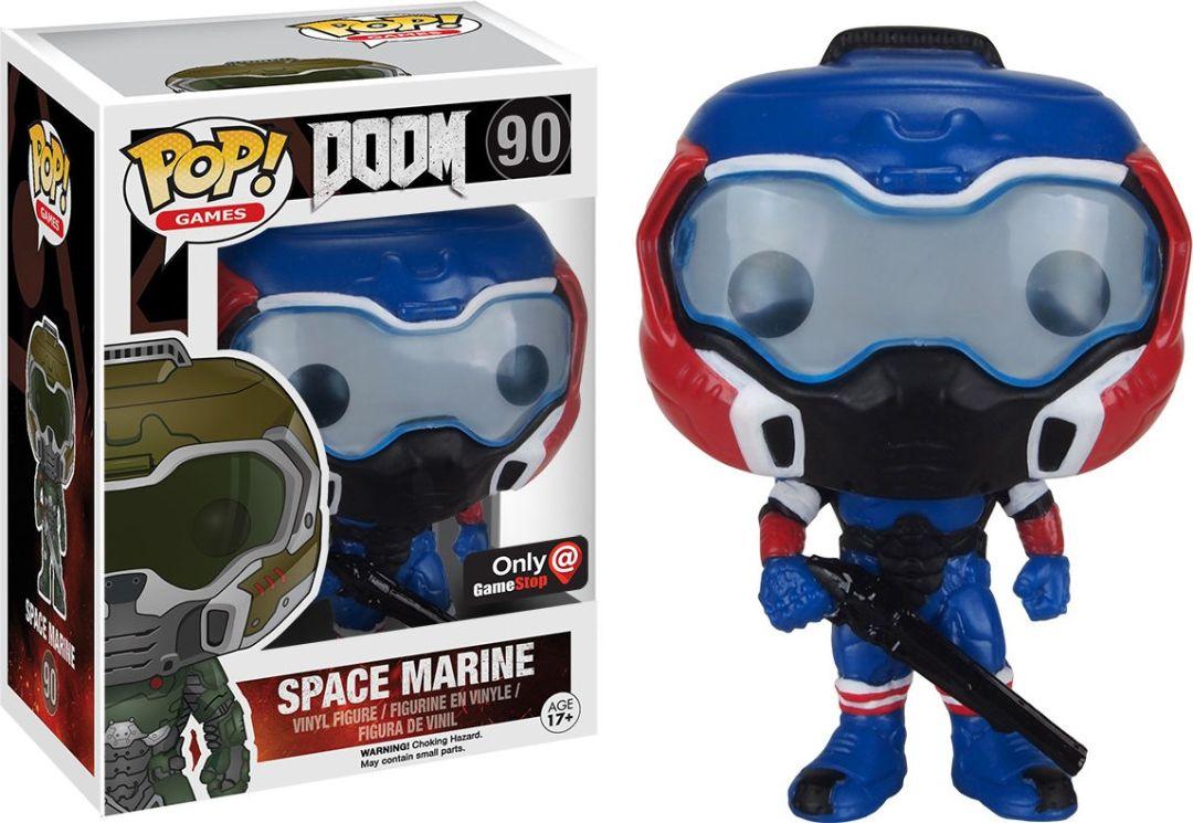 Funko Pop! Games #90 Doom Space Marine [Red, White & Blue]
