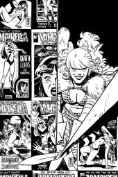 Dynamite Entertainment Vampirella/Red Sonja #2 Cover D (Black & White, Virgin) by Leonardo Romero & Jordie Bellaire
