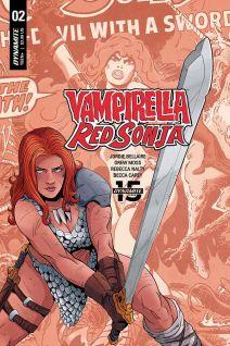 Dynamite Entertainment Vampirella/Red Sonja #2 Cover F by Drew Moss