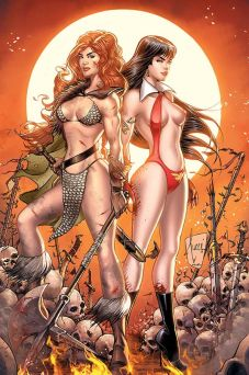 Dynamite Entertainment Vampirella/Red Sonja #2 Cover H by Billy Tucci