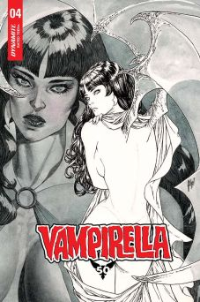 Dynamite Entertainment Vampirella Vol. 5 #4 Cover B (Black & White) by Guillem March