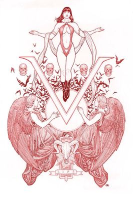 Dynamite Entertainment Vengeance of Vampirella Cover B (Red, Virgin) by Frank Cho