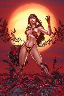 Dynamite Entertainment Vengeance of Vampirella Cover (Blood Moon, Virgin) by Buzz