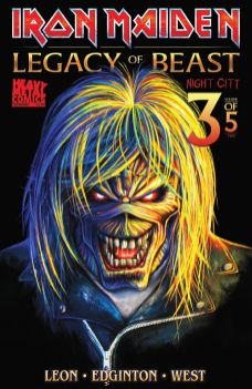 Heavy Metal Magazine Iron Maiden: Legacy of the Beast Vol. 2 - Night City #3 Cover B by Akirant