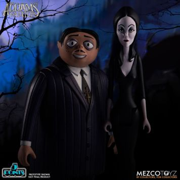 Mezco Toyz 5 Points The Addams Family (2019) Gomez & Morticia Action Figures