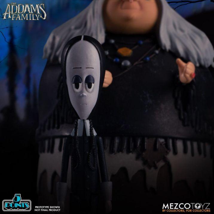 Mezco Toyz 5 Points The Addams Family (2019) Wednesday & Grandma Action Figures