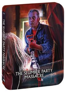 Scream Factory The Slumber Party Massacre (1982) Deluxe Limited Edition Steelbook Blu-ray Cover (Side)