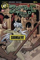 Action Lab - Danger Zone Zombie Tramp #65 Cover B (Risque) by Marco Maccagni